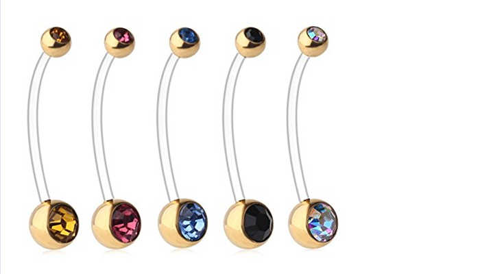 Flexible Belly Button Rings for Sport