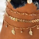 10 Gold Ankle Bracelets for Large Ankles