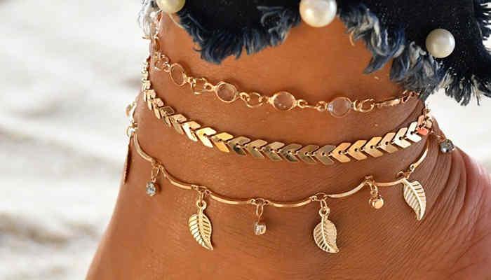 10 Gold Ankle Bracelets for Large Ankles