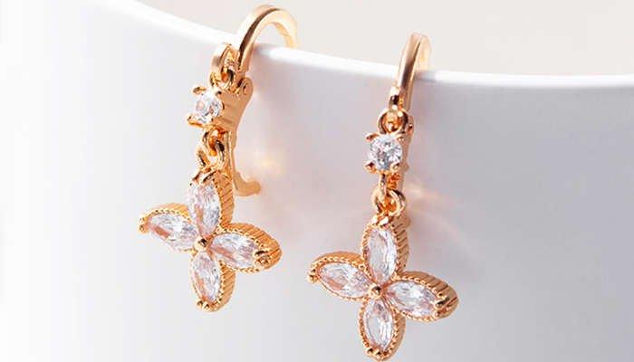 Gold Earrings Designs for Teenage Girl