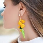 Earrings to Wear with High Neck Dress