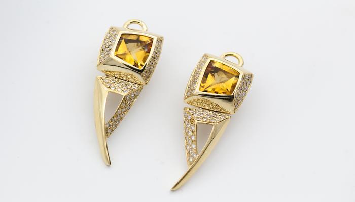 Gold Plated Brass Earrings For Sensitive Ears