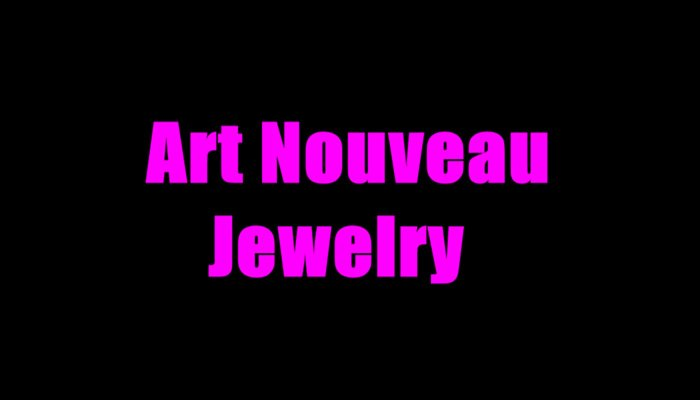 What Is Art Nouveau Jewelry