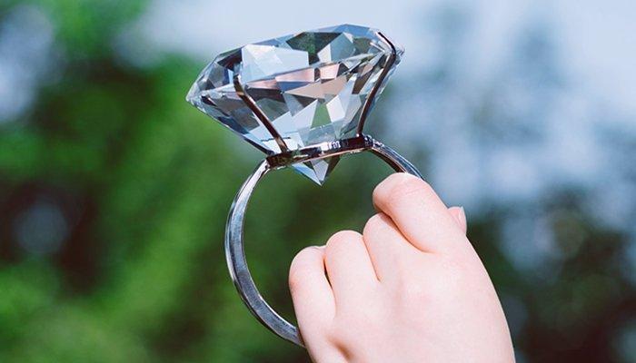 fake big diamond ring