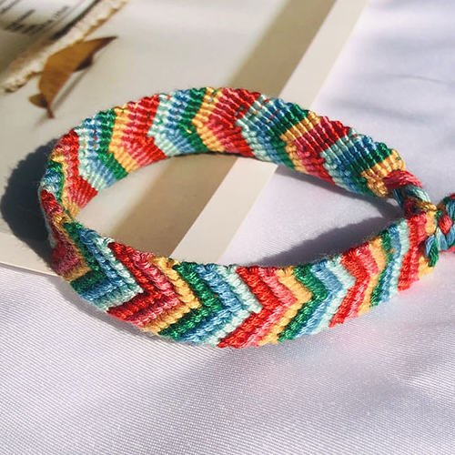 what are friendship bracelets made of