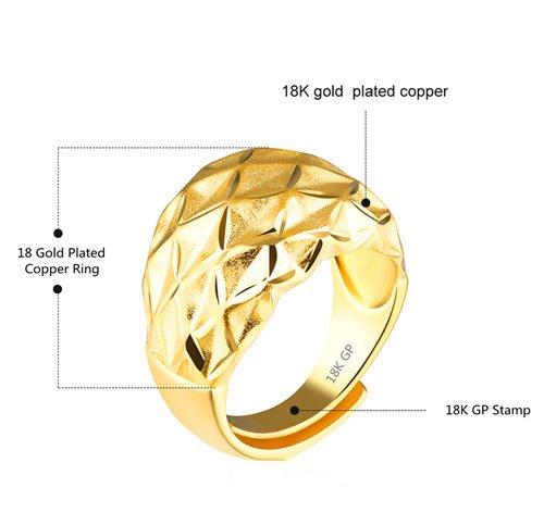 Латунное кольцо 18k штампованное